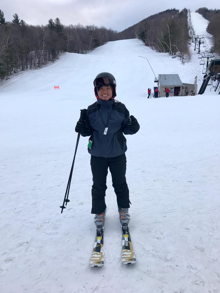 生平第一次學滑雪
